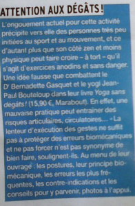Yoga sans dégât dr B. Gasquet